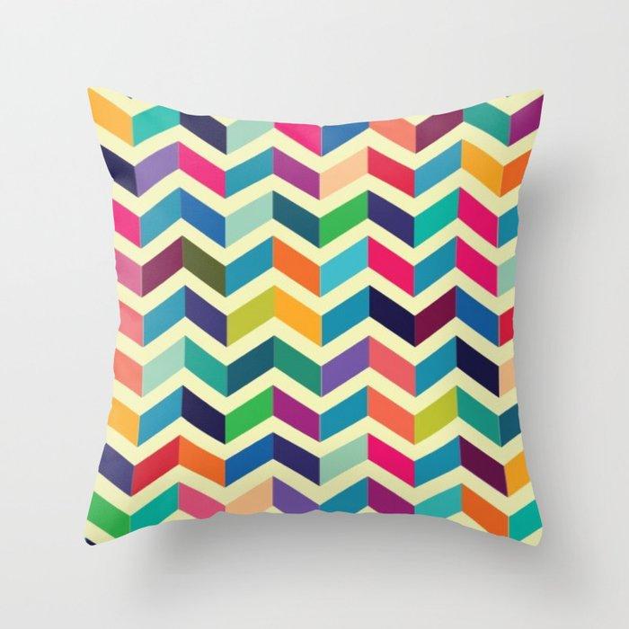 Colorful Minimalist Design: Chevron Pattern Interior Graphic Design Furniture Colorful