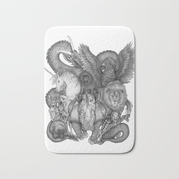 The Impossible Menagerie Bath Mat