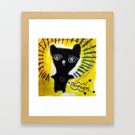 Happiness Bear Framed Art Print