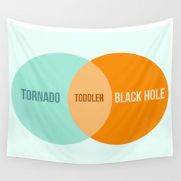 Toddler Venn Diagram Wall Tapestry