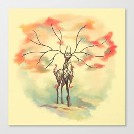 Essence of Nature - A Deer's Echo Canvas Print