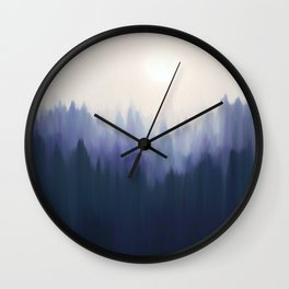 Autumn Fog | Indigo Edition Wall Clock