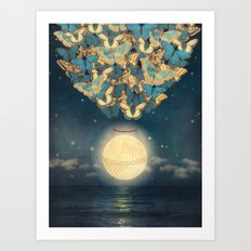 The Rising Moon Art Print