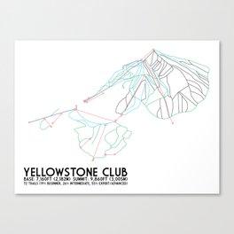 Yellowstone Club, MT - Minimalist Trail Art Canvas Print