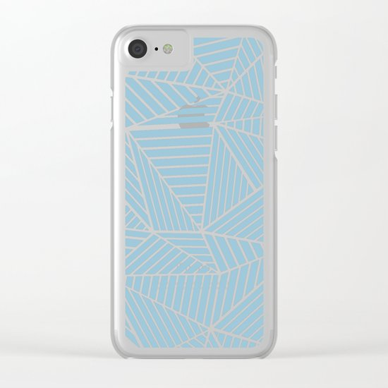 Ab Lines Sky Blue Clear iPhone Case