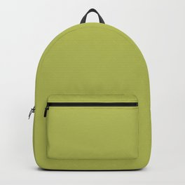 Minimalist dusty yellowish green color decor. Chartreuse color. Backpack