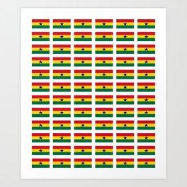 Flag of Ghana -Ghanaian,accra,kumasi,Akans,Dagbani,Tamale,Gold coast,Ashanti Art Print
