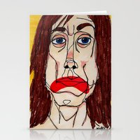 iggy pop Stationery Cards featuring Iggy Pop by Sasquatch