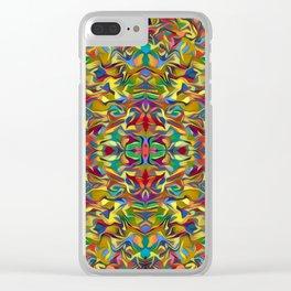 Deep Style Digital Pattern 03 Clear iPhone Case