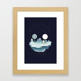 Winter skull Framed Art Print