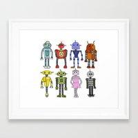 robots Framed Art Prints featuring Robots by Annabelle Scott