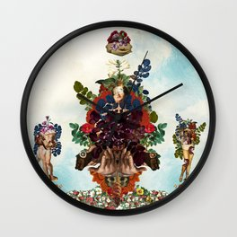 Boaz and Jachin  Wall Clock