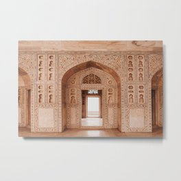 Agra fort gate / door, Rajasthan India | Travel photography warm pastel colors Metal Print