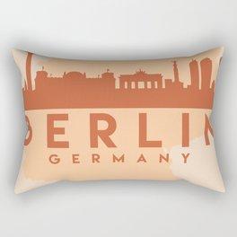 BERLIN GERMANY CITY MAP SKYLINE EARTH TONES Rectangular Pillow