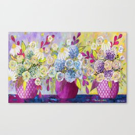 3 vases Canvas Print