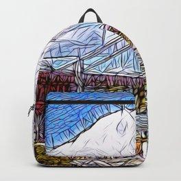 Golden Gate Bridge abstract Backpack