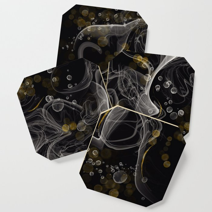 Monochrome and gold ink Coaster
