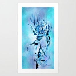 Bluish Cream Art Print