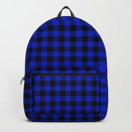 Cobalt Blue Cowboy Buffalo Check Plaid Backpack