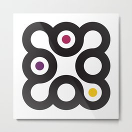 Circles 3x3 #3 Metal Print