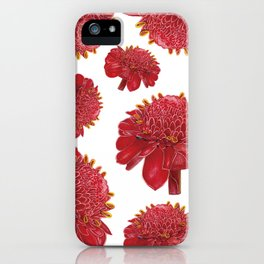 Floral Theme- Ginger Lily Watercolor Illustration iPhone Case