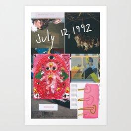 Happy Birthday to Me (July 12, 1992) Art Print