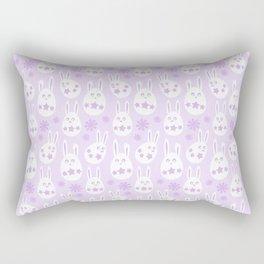 Easter Egg Bunny Pattern - Lilac Rectangular Pillow