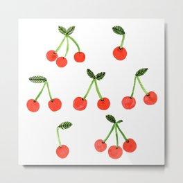 Cherries! by Veronique de Jong Metal Print