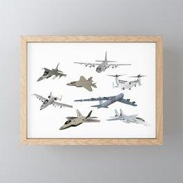 US Military Airplanes Framed Mini Art Print