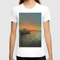 santa monica T-shirts featuring Santa Monica Pier by The Agate Hunter