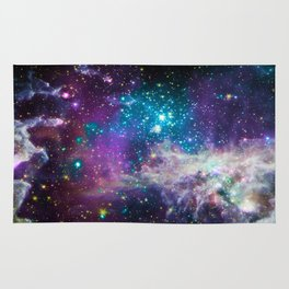 Colorful Sparkling Stars Nursery Rug