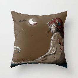 La Cat-Rina Throw Pillow