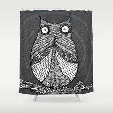 Doodle Owl Shower Curtain