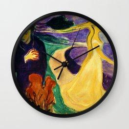 Edvard Munch - Separation - Digital Remastered Edition Wall Clock