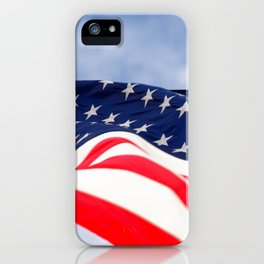 Its a grand ol flag waving in the breeze on a beautiful Memorial Day iPhone Case