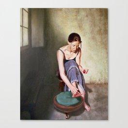 Painting Toenails Canvas Print