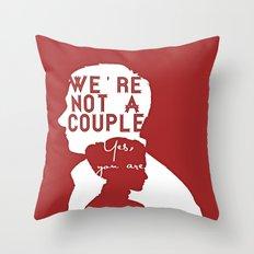 Not a couple Throw Pillow