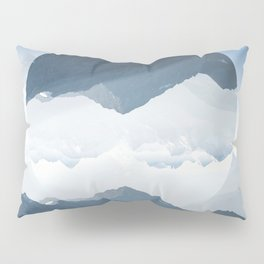 High mountain in morning time Pillow Sham