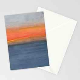 Color Field: Hawai'i Cloudy Ocean Sunset Stationery Cards