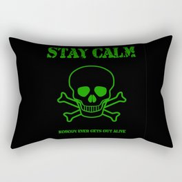 Stay Calm Pirate Flag Rectangular Pillow
