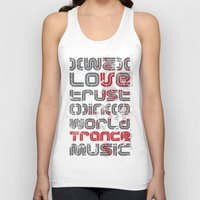paramore Tank Tops featuring Trust in Trance Music by Sitchko Igor