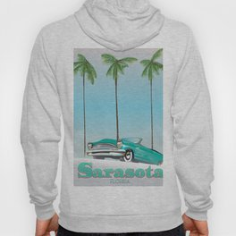 Sarasota Florida vintage style travel poster Hoody