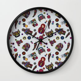 Patchs and Buttons 1 Wall Clock