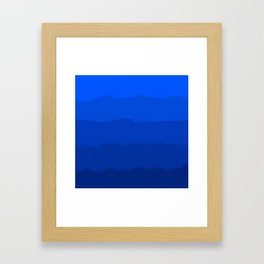 Endless Sea of Blue Framed Art Print