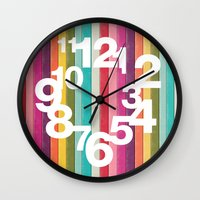 Wall Clocks featuring Wall Clock 002 by Cs025