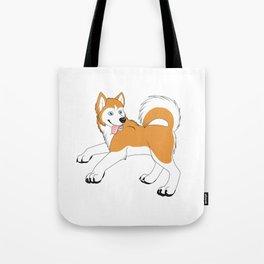 Husky (Red and White) Tote Bag