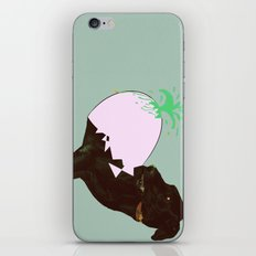 To spring a leak, is as dog is to egg. iPhone & iPod Skin