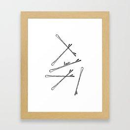 Bobby Pin Hand Lettering Illustration Art Framed Art Print