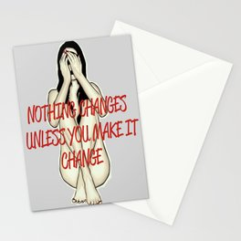 Nothing changes Stationery Cards