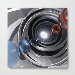 Abstract Camera Lens Metal Print